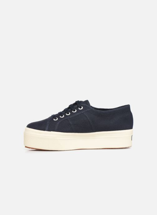 Sneakers Superga 2790 Cot Plato Linea C W Blauw voorkant