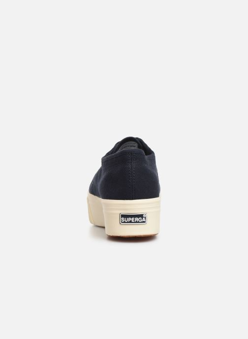 Sneakers Superga 2790 Cot Plato Linea C W Blauw rechts