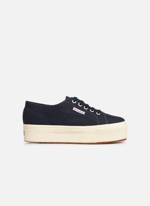 Sneakers Superga 2790 Cot Plato Linea C W Blauw achterkant