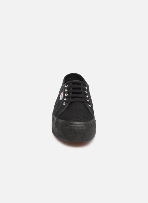 Baskets Superga 2790 Cot Plato Linea C W Noir vue portées chaussures
