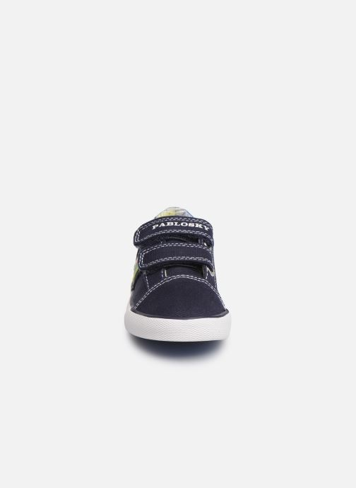 Sneaker Pablosky Octavio blau schuhe getragen