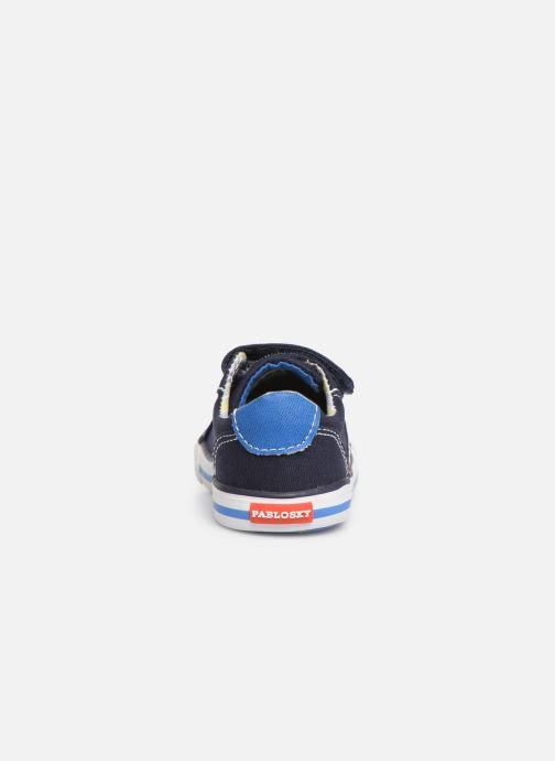 Sneaker Pablosky Octavio blau ansicht von rechts