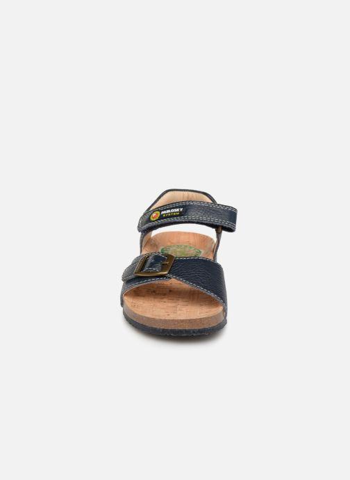 Sandales et nu-pieds Pablosky Ignacio Bleu vue portées chaussures