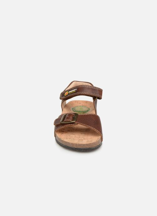 Sandales et nu-pieds Pablosky Ignacio Marron vue portées chaussures