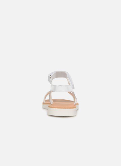 Sandales et nu-pieds Pablosky Ramona Blanc vue droite