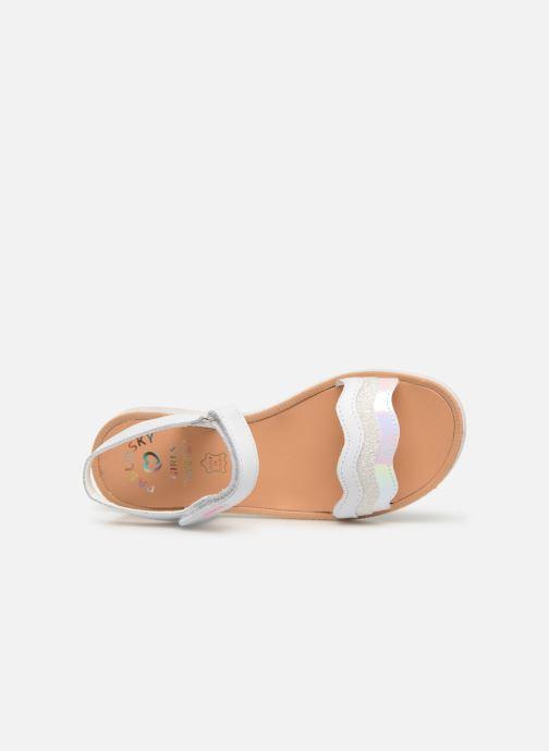 Sandales et nu-pieds Pablosky Ramona Blanc vue gauche