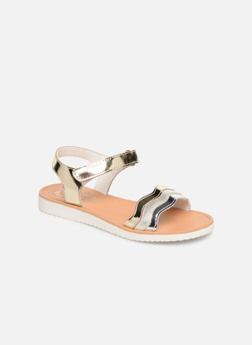 Sandales et nu-pieds Pablosky Ramona Or et bronze vue détail/paire