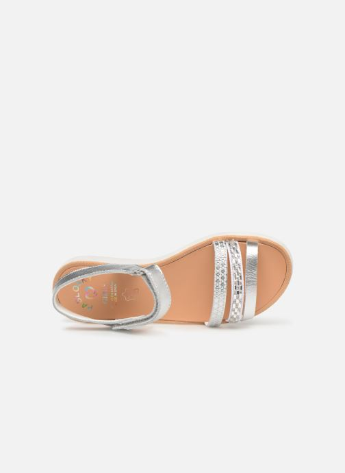 Sandals Pablosky Esperanza Silver view from the left