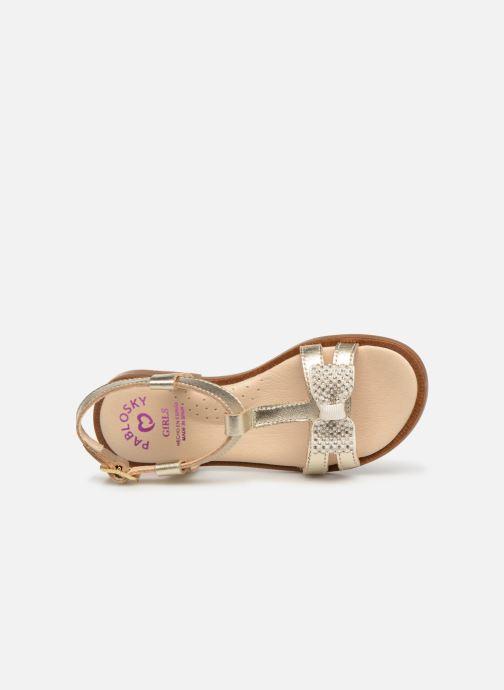 Sandales et nu-pieds Pablosky Frida Or et bronze vue gauche