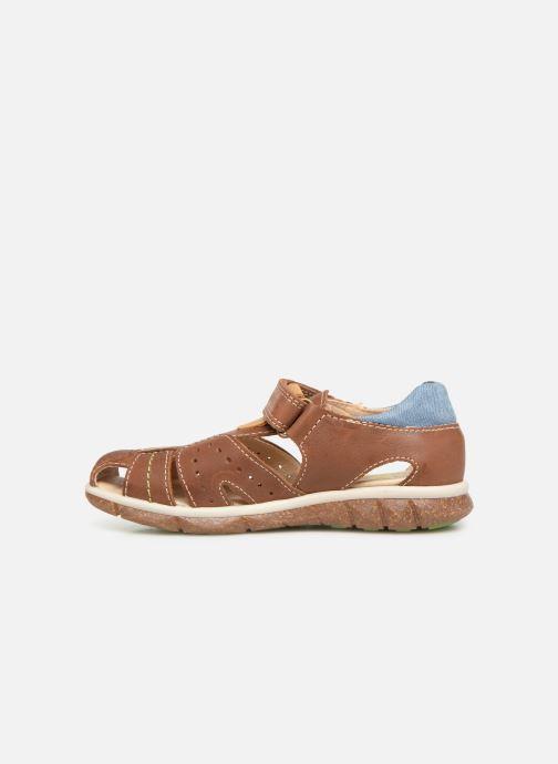 Sandales et nu-pieds Pablosky Alvaro Marron vue face