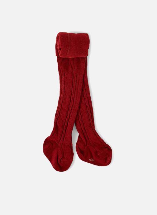 Chaussettes et collants Bout Chou COLLANT TORSADES Rouge vue détail paire 8bd283e77484
