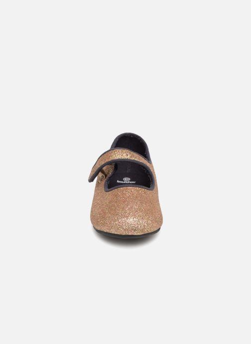 Ballerines Bout'Chou BALLERINE NOEL BBD Or et bronze vue portées chaussures
