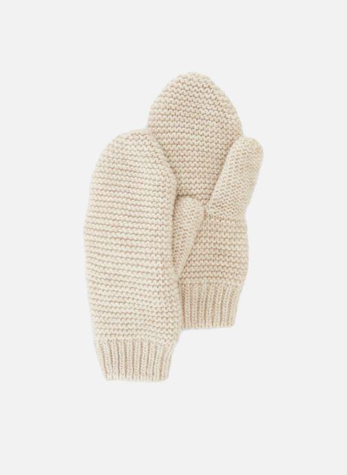 Handschoenen Monoprix Femme MOUFLE TRICO POINT MOUSSE Beige detail