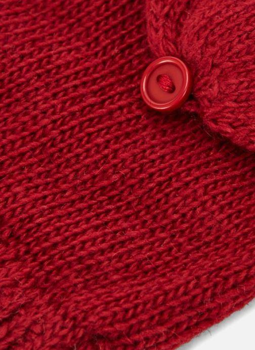 Guanti Monoprix Femme MOUFLE MITAINE UNI Rosso modello indossato