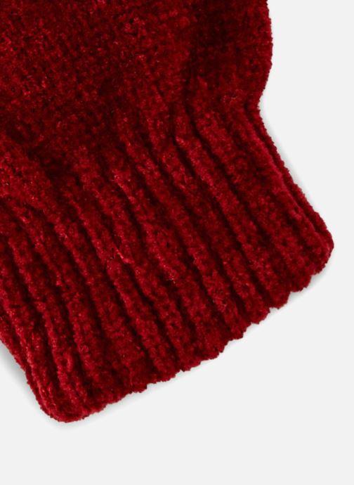 Guanti Monoprix Femme GANTS MAILLE CHENILLE Rosso modello indossato