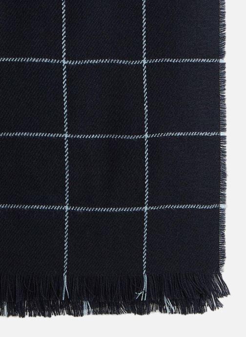 Sjaal Monoprix Femme ECHARPE ACRYLIQUE CARREAUX Blauw voorkant