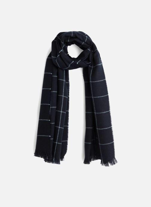 Sjaal Monoprix Femme ECHARPE ACRYLIQUE CARREAUX Blauw detail
