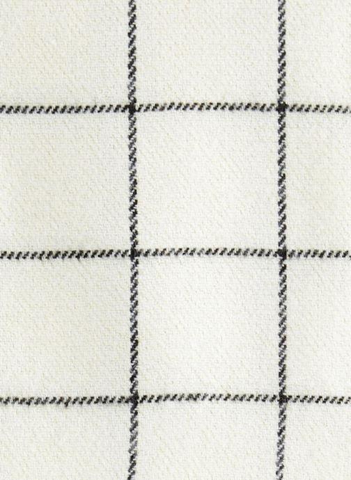 Sjaal Monoprix Femme ECHARPE ACRYLIQUE CARREAUX Wit voorkant