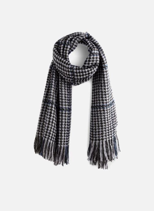 Sjaal Monoprix Femme ECHARPE ACRYLIQUE CARREAUX FRANGES Zwart detail