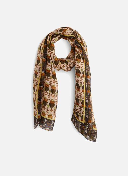 Sciarpa y foulard Monoprix Femme FOULARD IMPRIME FLEURS PEAU Marrone vedi dettaglio/paio