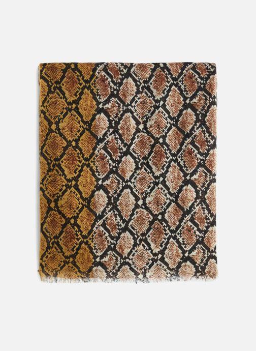 Sciarpa y foulard Monoprix Femme ETOLE LAINE REPTILE Marrone modello indossato