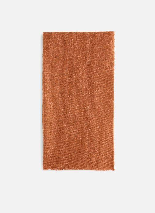 Scarf Monoprix Femme ECHARPE UNIE BOURRETTE Orange model view