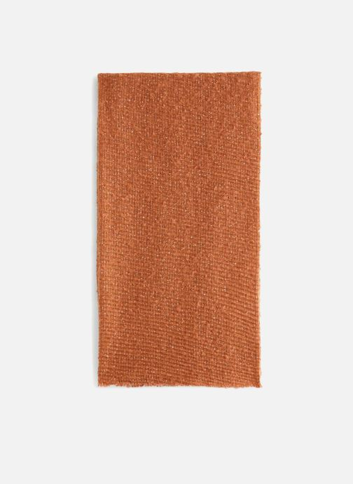 Echarpes et Foulards Monoprix Femme ECHARPE UNIE BOURRETTE Orange vue portées chaussures