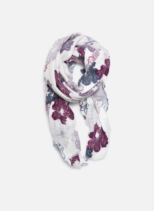 Echarpes et Foulards Monoprix Femme FOULARD ACRY FLEURS BLANC Violet vue détail/paire