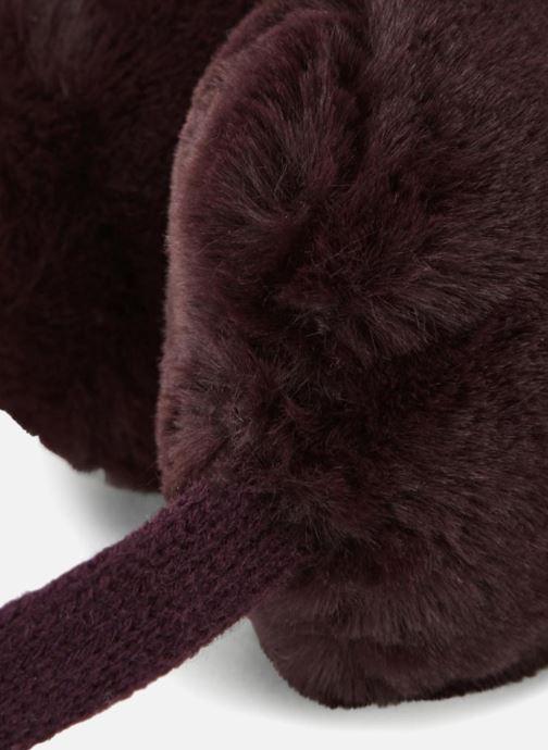Chapeaux Monoprix Femme CACHE OREILLE UNI F Bordeaux vue portées chaussures
