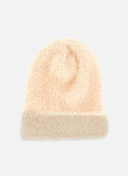 Bonnets Monoprix Femme BONNET UNI POILU Beige vue détail/paire