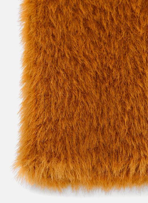 Bonnets Monoprix Femme BONNET UNI POILU Orange vue portées chaussures