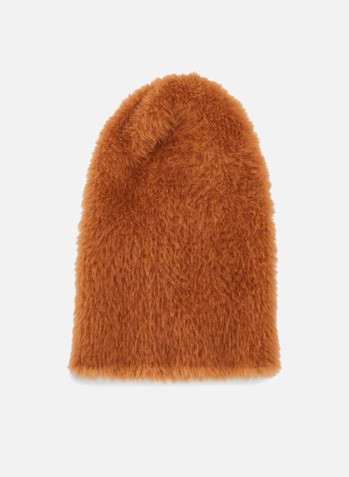 Bonnets Monoprix Femme BONNET UNI POILU Orange vue détail/paire