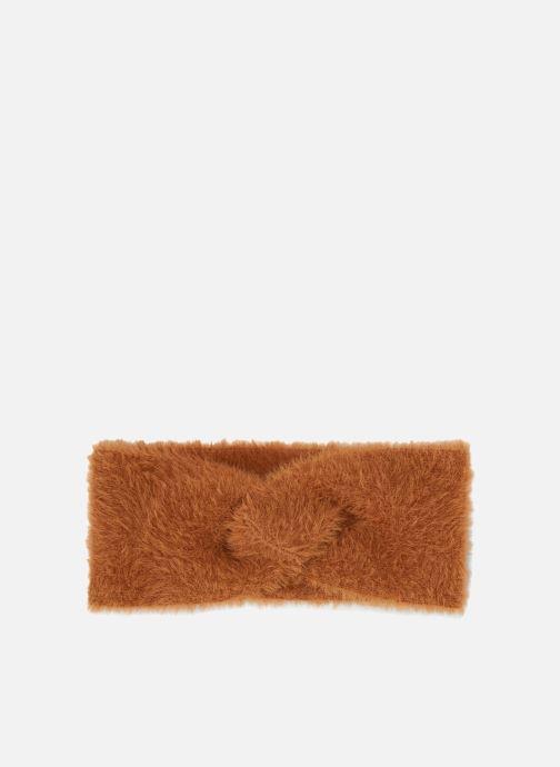 Hat Monoprix Femme BANDEAU ACRYLIQUE UNI Orange detailed view/ Pair view
