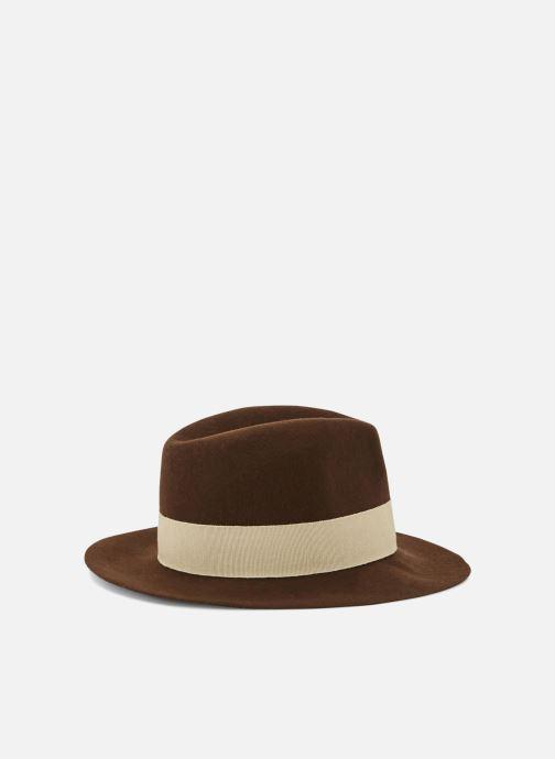 Chapeaux Monoprix Femme CHAPEAU LAINE GALON Marron vue portées chaussures