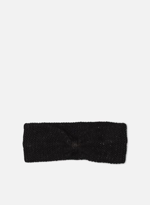 Hat Monoprix Femme BANDEAU TRICOT POINT MOUSSE Black detailed view/ Pair view
