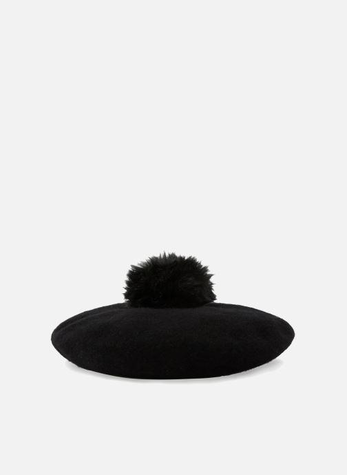 Hat Monoprix Femme BÉRET LAINE POMPON Black model view