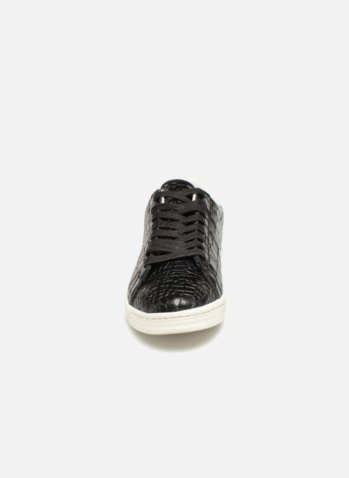 Baskets Monoprix Femme BASKET CUIR CROCO Noir vue portées chaussures