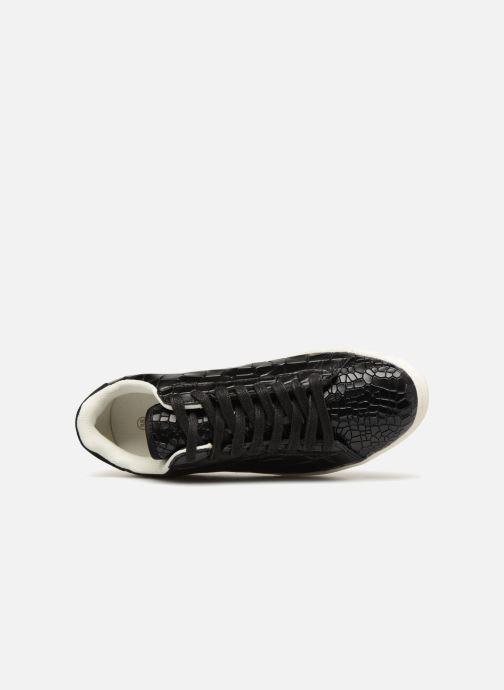 Monoprix Sneaker schwarz 360821 Basket Femme Cuir Croco rxArZOWwqa