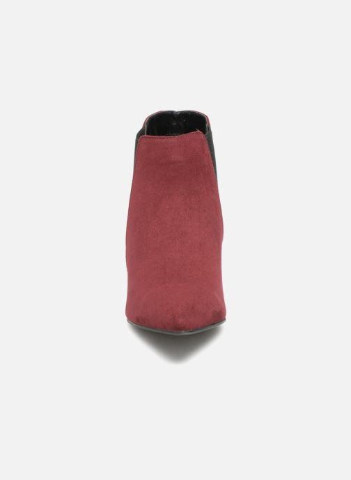 Bottines et boots Monoprix Femme BOOTS MICRO POINTU Bordeaux vue portées chaussures