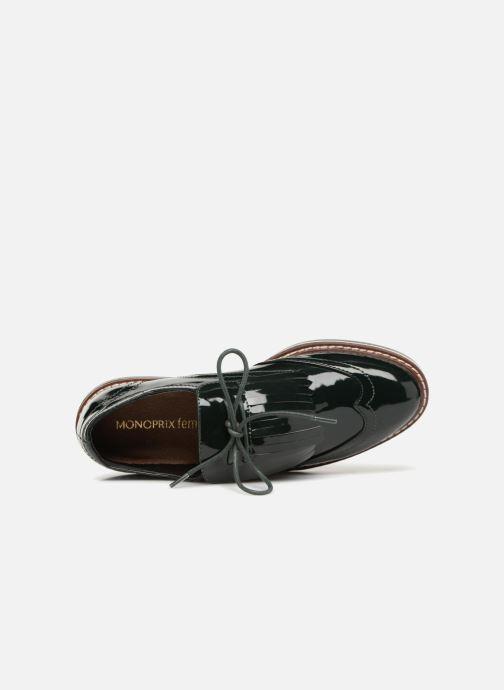 Zapatos con cordones Monoprix Femme DERBY PATE MEXICAINE Verde vista lateral izquierda