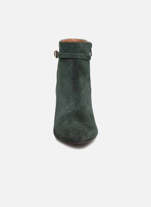 Bottines et boots Monoprix Femme BOOTS TALON ET BOUCLE Vert vue portées chaussures