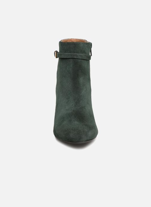Stivaletti e tronchetti Monoprix Femme BOOTS TALON ET BOUCLE Verde modello indossato