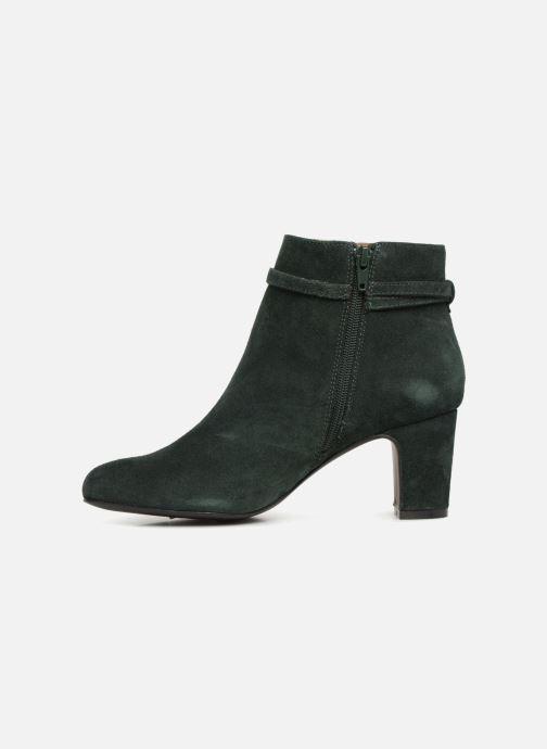 Boots en enkellaarsjes Monoprix Femme BOOTS TALON ET BOUCLE Groen voorkant