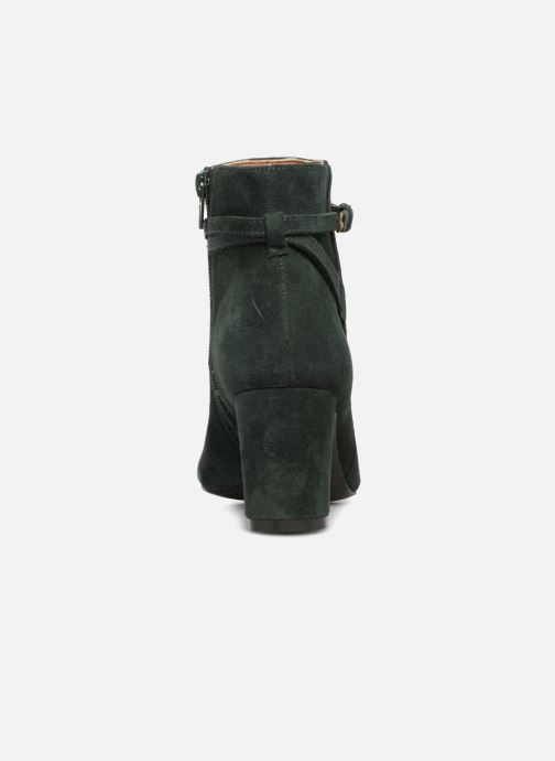 Ankle boots Monoprix Femme BOOTS TALON ET BOUCLE Green view from the right