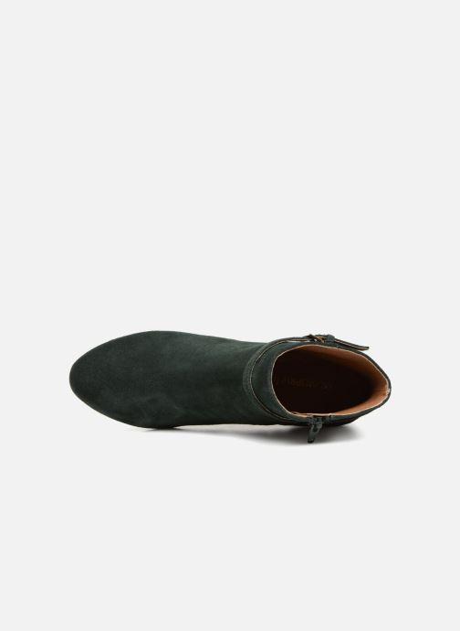 Bottines et boots Monoprix Femme BOOTS TALON ET BOUCLE Vert vue gauche