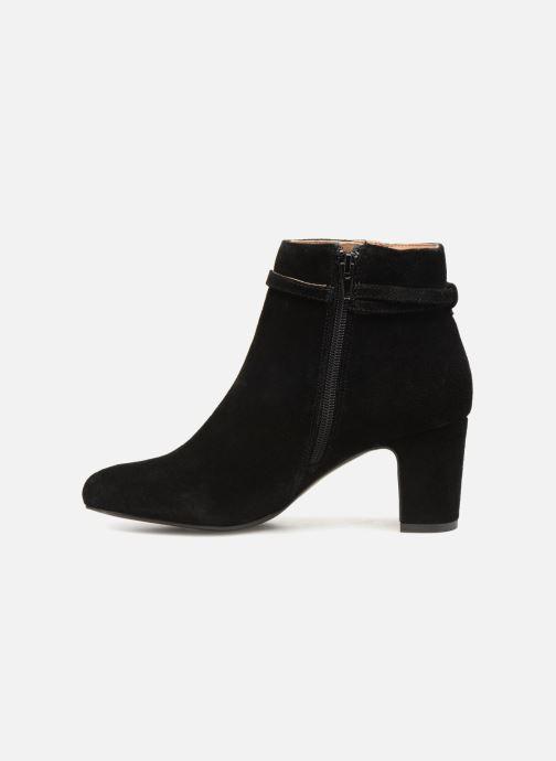 Bottines et boots Monoprix Femme BOOTS TALON ET BOUCLE Noir vue face
