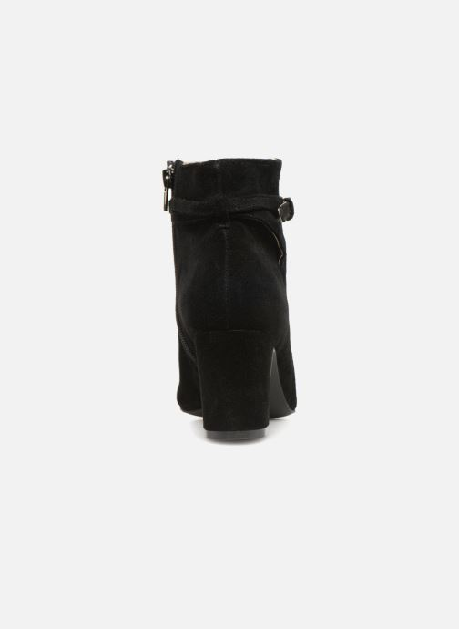 Bottines et boots Monoprix Femme BOOTS TALON ET BOUCLE Noir vue droite