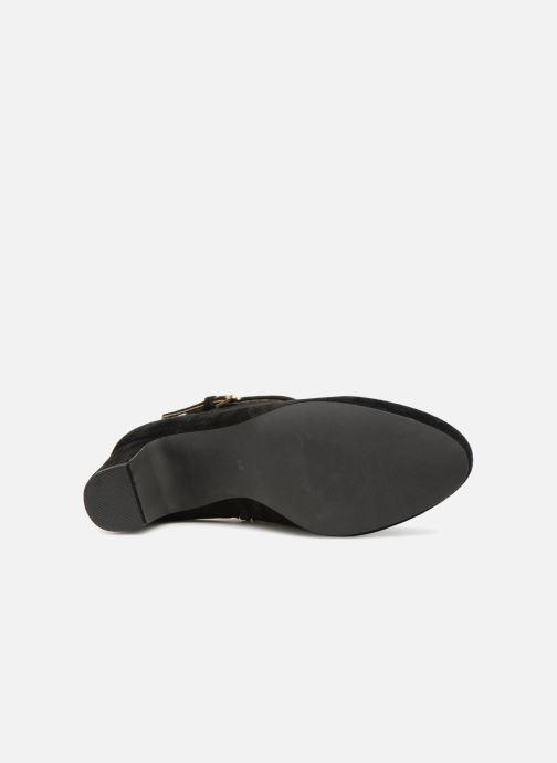 Bottines et boots Monoprix Femme BOOTS TALON ET BOUCLE Noir vue haut
