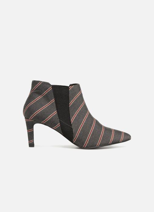 Boots en enkellaarsjes Monoprix Femme BOOTS RAYEE POINTUE Grijs achterkant