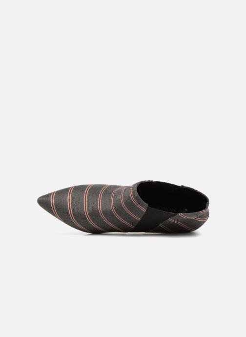 Boots en enkellaarsjes Monoprix Femme BOOTS RAYEE POINTUE Grijs links